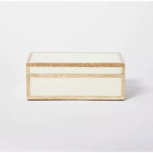 Studio McGee Threshold Small Decorative Ivory Box